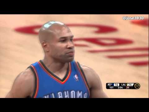 Derek Fisher Welcomed Back By Lakers Fans - Thunder @ Lakers 3/29/2012