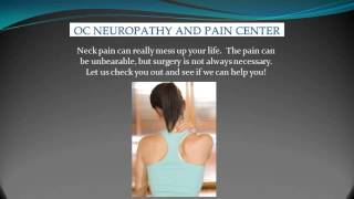 neck pain relief in orange county ca