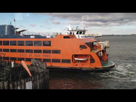 FREE Staten Island Ferry  And SIR Improvements  Pt.1 Leaving Manhattan