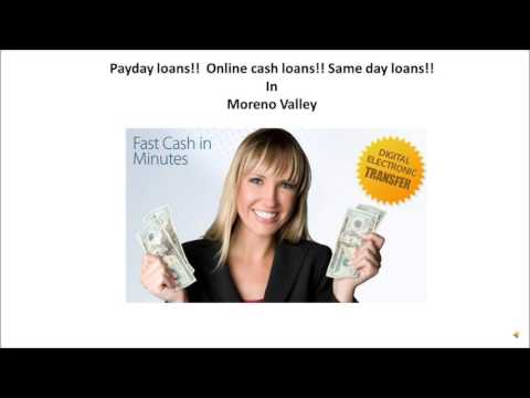 Payday Loans in Moreno Valley
