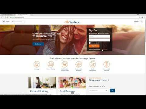 Suntrust Bank Online Banking Login Tutorial