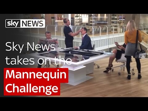 Sky News takes on the Mannequin Challenge