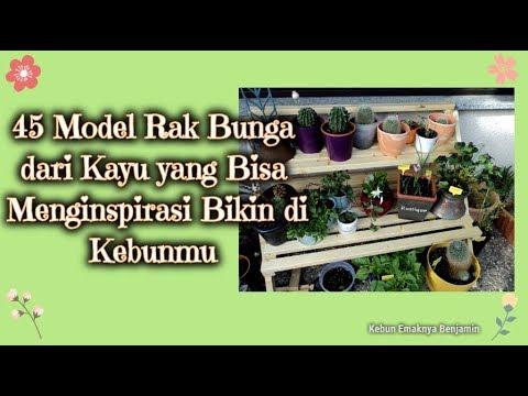 45 Model Rak Bunga Dari Kayu Yang Bisa Menginspirasi Bikin Di Kebunmu