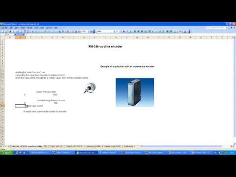 Siemens Step 7 FM350 card encoder