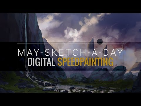 Digital Painting | Fantasy Landscape Concept Art | Speed Painting Time Lapse [May-Sketch-A-Day 03]