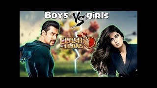 Life of boys vs girls in clash of clans