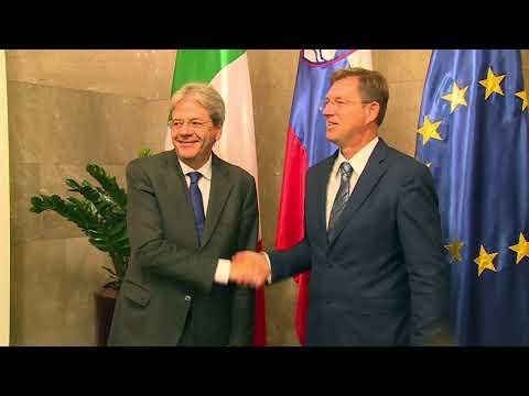 Gentiloni incontra il Primo Ministro sloveno Miro Cerar (07/09/2017)