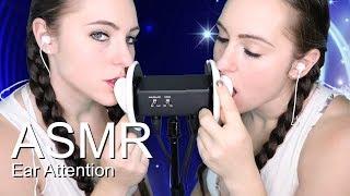 ASMR Twin ear eating | Ear Sucking | Ear Licking