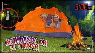 ACAMPANDO EN EL JARDÍN a las 3 A.M *reto PARANORMAL* - Lulu99