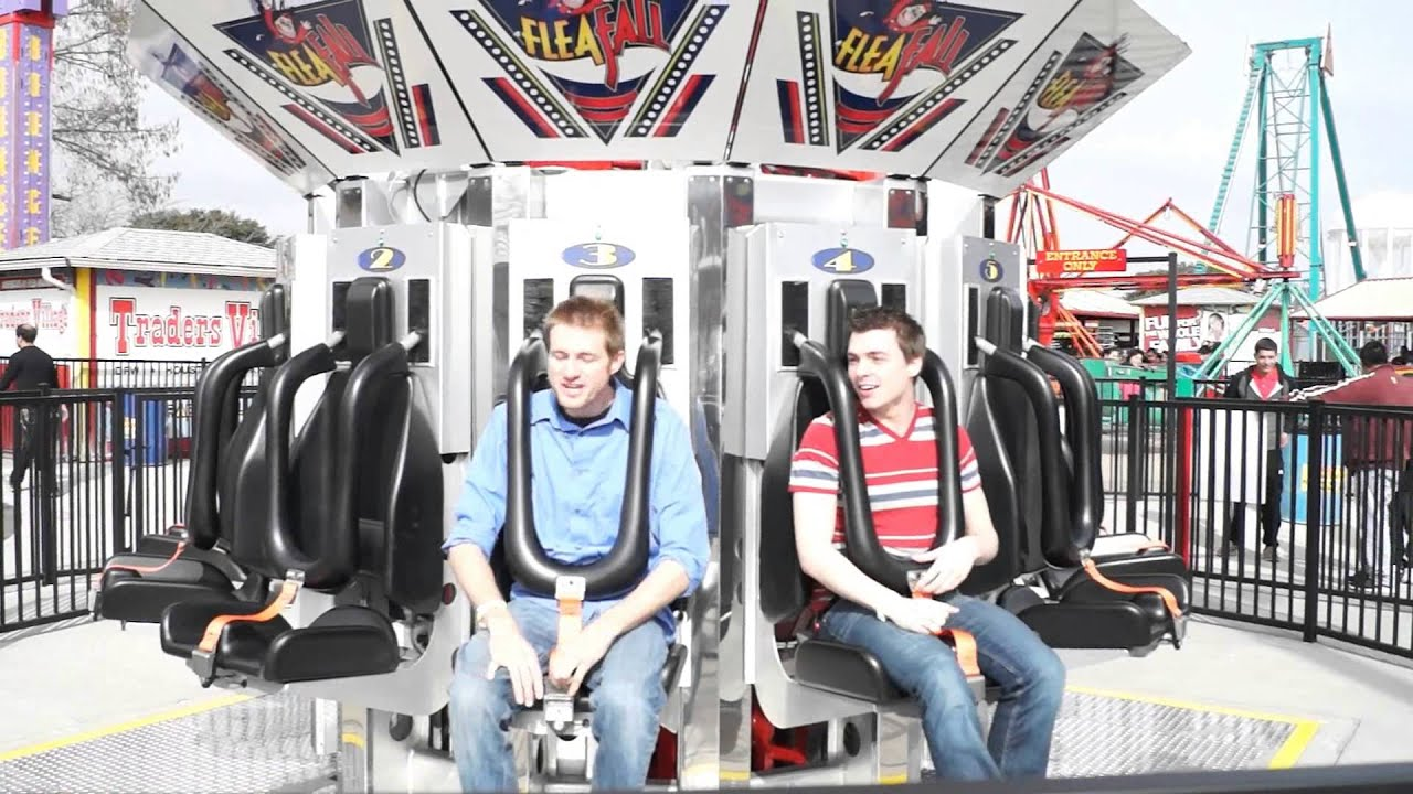Awesome freefall ride at Traders Village theme park! - YouTube