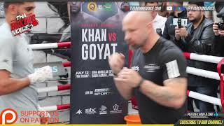 🔴Amir Khan and Bones Adams training for Neeraj Goyat