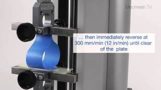 Loop tack testing ASTM D6195, PSTC-16, FINAT No 9. Mecmesin Force Measurement