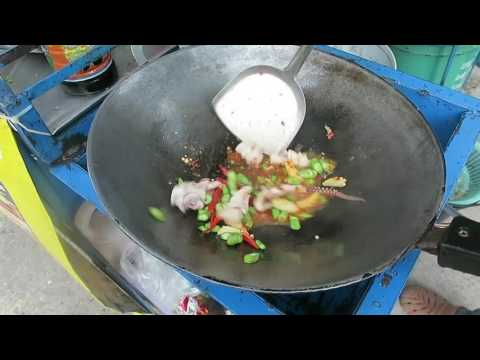 Thai Basil Squid with Fried Egg – Thai Recipes – Thai Street Food
