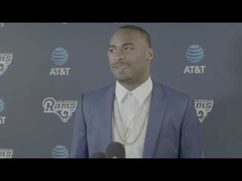 Los Angeles Rams Robert Woods and Sean Mcvay meet with media