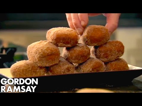 Gordon Ramsey makes chocolate filled donuts. 'Whoa'