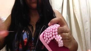 Rasteirinha de pérolas para bebê parte2