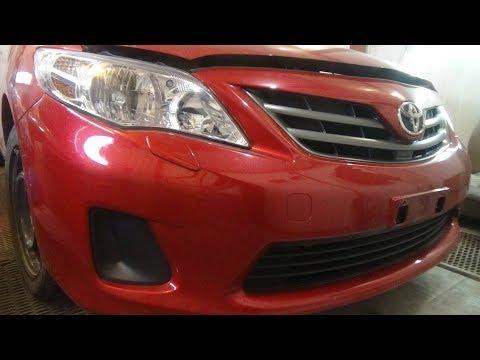 Как снять и разобрать передний бампер, Toyota Corolla X (E140, E150) Рестайлинг.