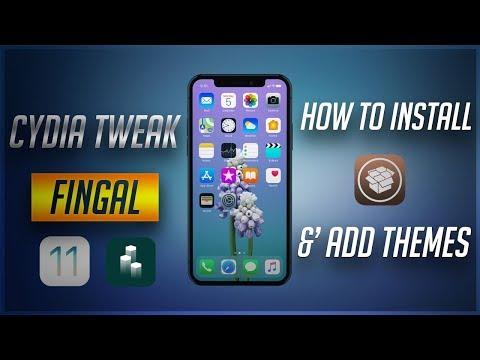 Cydia Tweak Fingal iOS 11 How to Install &' Add Extra Themes! NO COMPUTER!