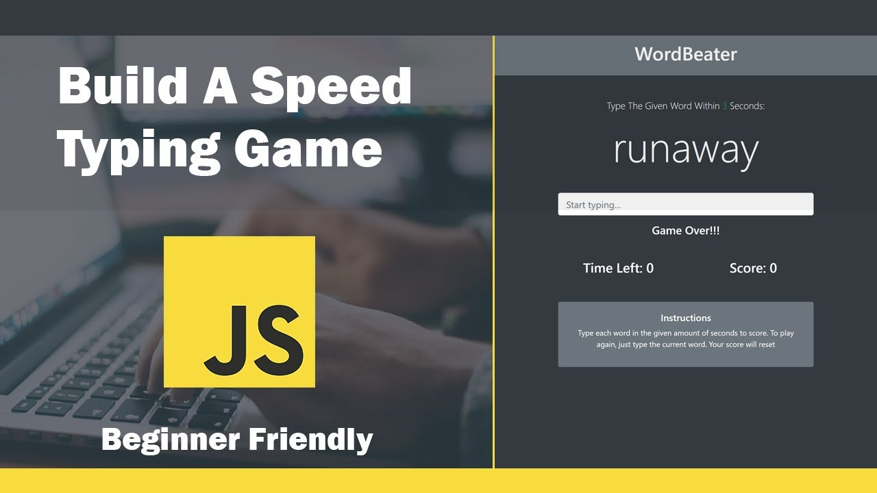 Build A Speed Typing Game In JavaScript