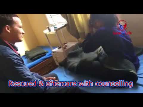 Rescued & aftercare with counselling from Save the life LIfe Nepal