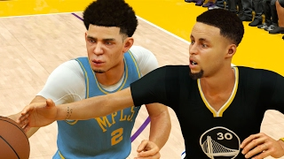 The Ball Brothers VS The Curry Family? NBA 2K17 Challenge