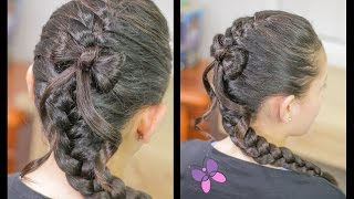 French Braid with Bow | Easy Hairstyles | Hairstyles for Girls | Chikas Chic