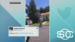 Celtics' Jaylen Brown Throws Down In Drive-By Dunk Challenge | SportsCenter | ESPN thumbnail