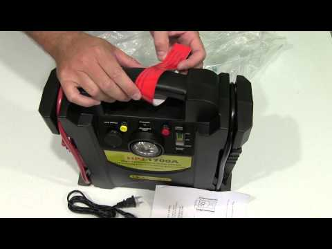 1700 Amp 12 Volt Jump Starter with Air Compressor Unboxing