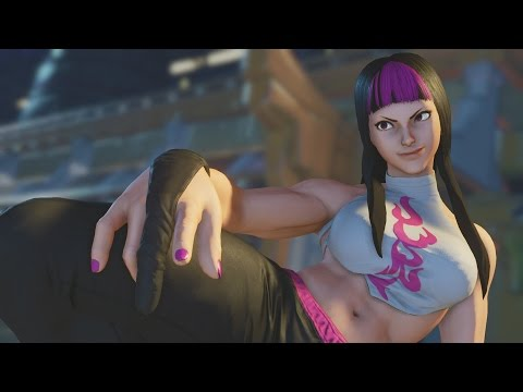 Street Fighter V - Juri Intro, Critical Art, Victory Pose and All Story Mode Cutscenes - 동영상