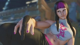 Street Fighter V Juri Intro Critical Art Victory Pose And All Story Mode Cutscenes