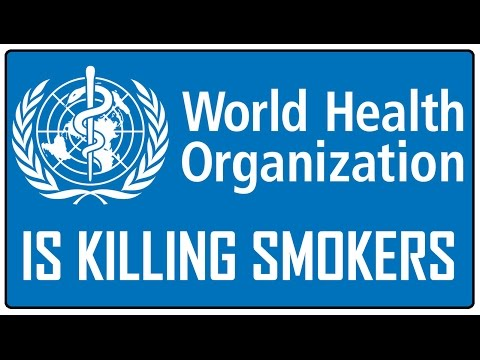 World Health Organization is killing smokers! (and they have a flat earth logo :)