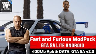 GTA SA LITE ANDROID MOBILE MOD FAST & FURIOUS #F9 VISUAL EFFECTS MAX SMALL SIZE