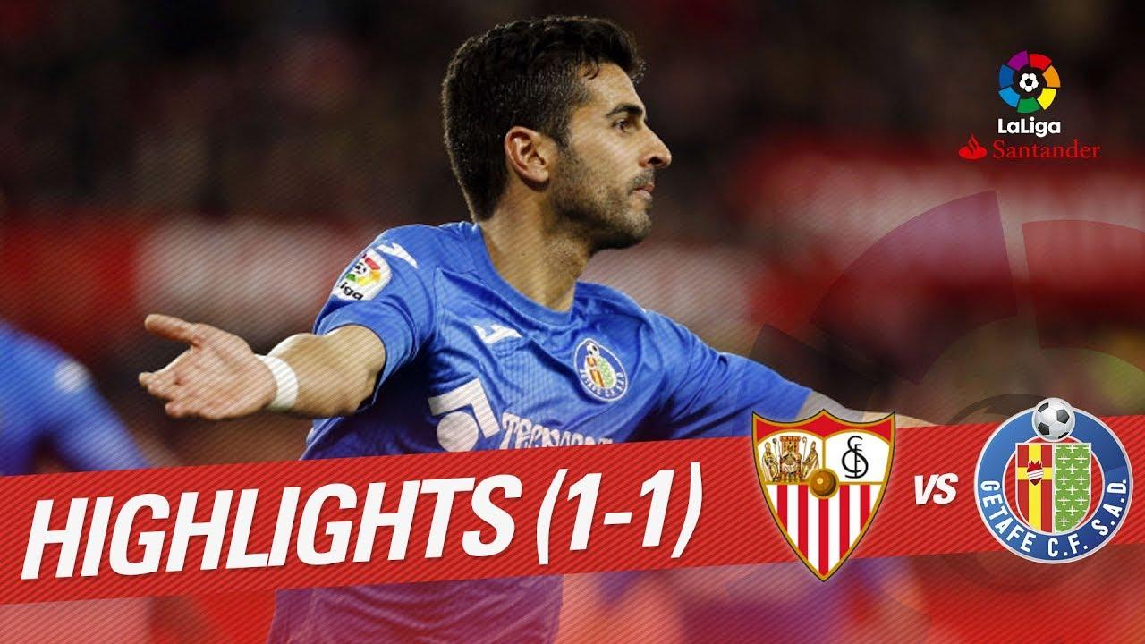 Resumen de Sevilla FC vs Getafe CF (1-1) - YouTube