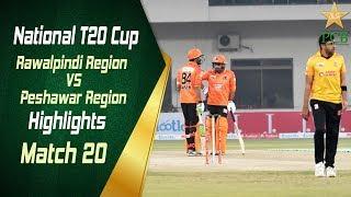 Match 20: Rawalpindi Region vs Peshawar Region | Highlights | National T20 Cup 2018/19 | PCB