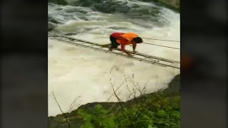 Watch: Two fishermen saved in a daring rescue operation in Bhopal