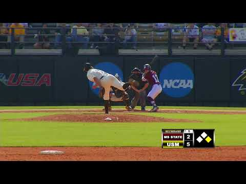 Southern Miss Baseball vs Mississippi State Game 2 - 02.17.18