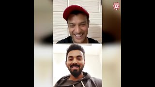 KL Rahul and Mayank Agarwal's Insta LIVE session!