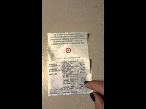 Breaking Down A Target Receipt