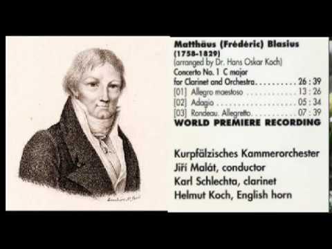 frederick blasius concierto para clarinete