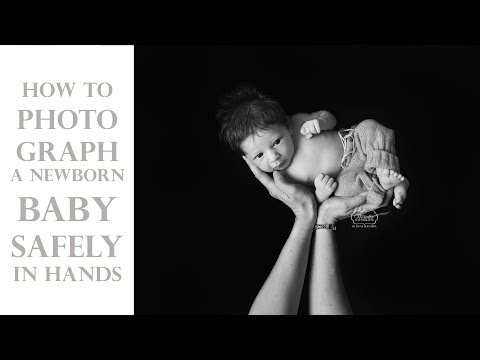 How to PHOTOGRAPH a Newborn BABY SAFELY held high in hands on the beanbag with black backdrop