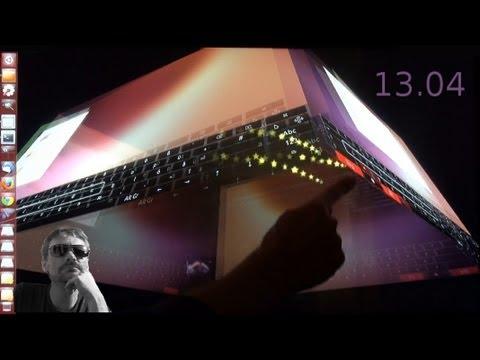 Ubuntu 13.04 : 3D Cube + OnBoard + Multitouch (german | deutsch)
