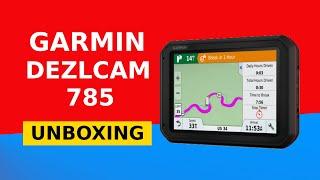 Гармін dezlCam 785 ЛМТ-Д ЄС розпакування HD-якості (010-01856-10)