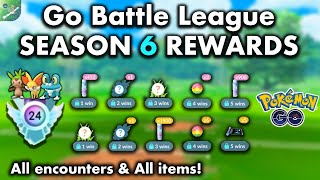 Every Go Battle League Reward in Season 6 // Rank 24! All Go Battle League Encounters + Item Rewards