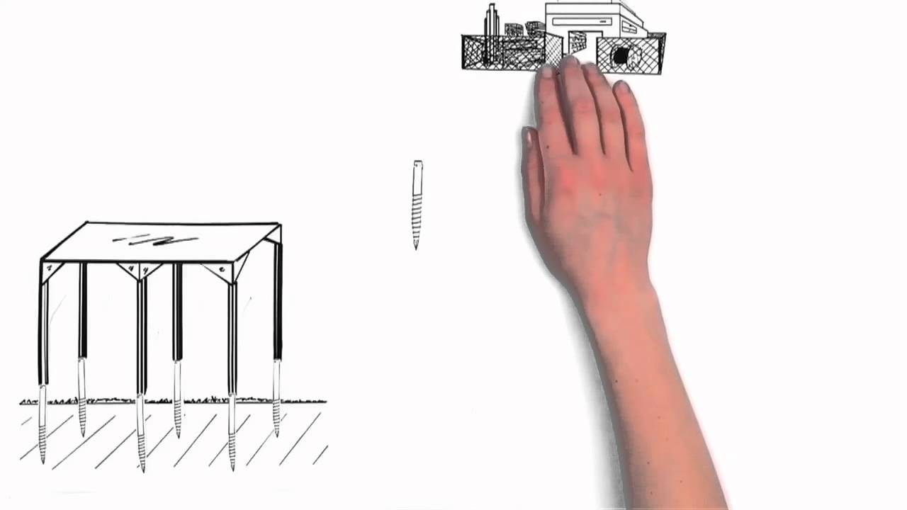 krinner das schraubfundament youtube. Black Bedroom Furniture Sets. Home Design Ideas