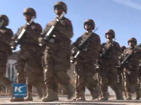 China-Mongolia anti-terror training