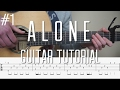 Alan Walker Alone Fingerstyle Guitar Tutorial lesson Part 1