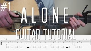 Alan Walker - Alone - Fingerstyle Guitar Tutorial (lesson) - Part 1