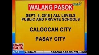 UB: Caloocan at Pasay City, walang pasok ngayong Lunes, all levels, private and public