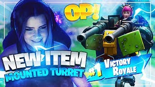 THE *NEW* MOUNTED TURRET IS OP! - SCAVENGER EVENT WIN (Fortnite: Battle Royale) | KittyPlays