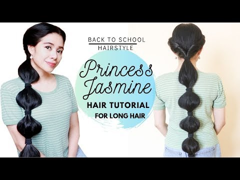 Princess Jasmine Hair Tutorial Inspired From Aladdin Easy Back